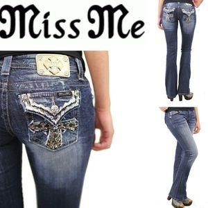 Miss Me Signature Rhinestone Sequin Bootcut Jeans